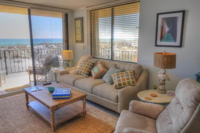 2br, 2 Bth, Gulf-front, sleeps 4-6, new furniture in living room and on balcony., vacation rental in Pensacola Beach