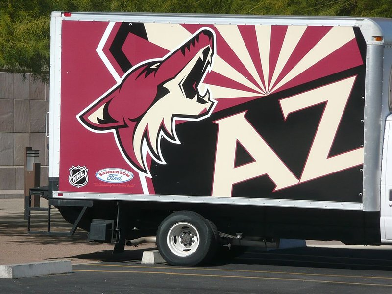 The Gila River Arena is just 3 miles from the house