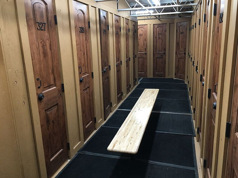 Ski locker right on the slopes