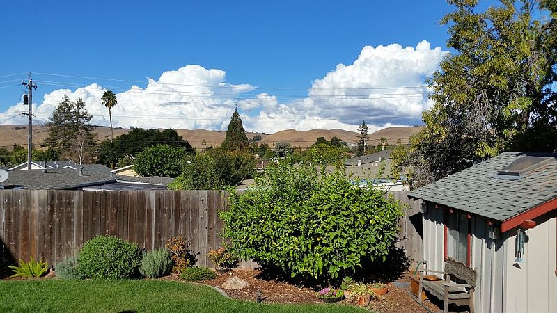 Beautiful view of the Mission Hills from the back yard deck!