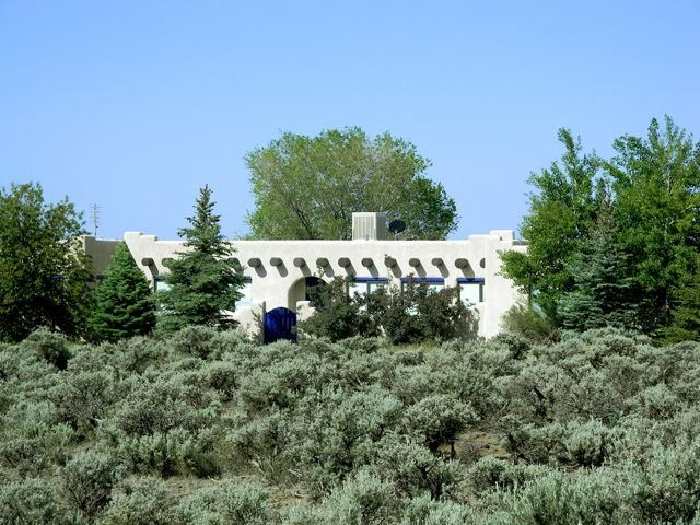 Main house surrounded by native southwest sage