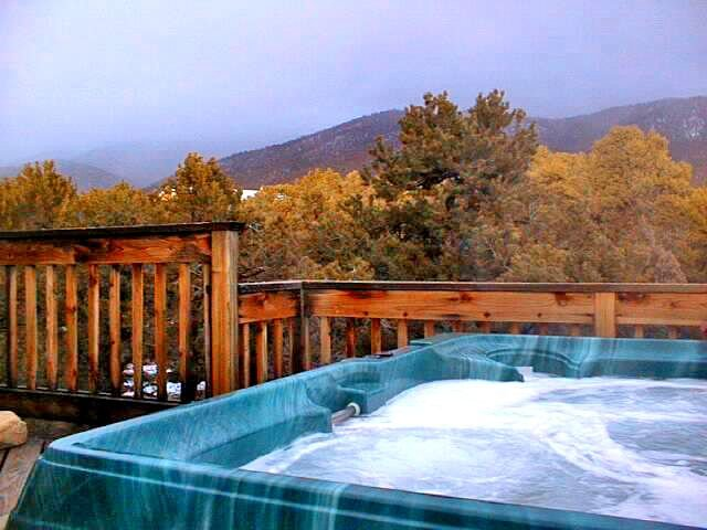 Glorious deck views with private hot tub