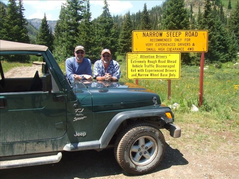 Owner enjoying a Summer jeep trip in the mountains surrounding the valley