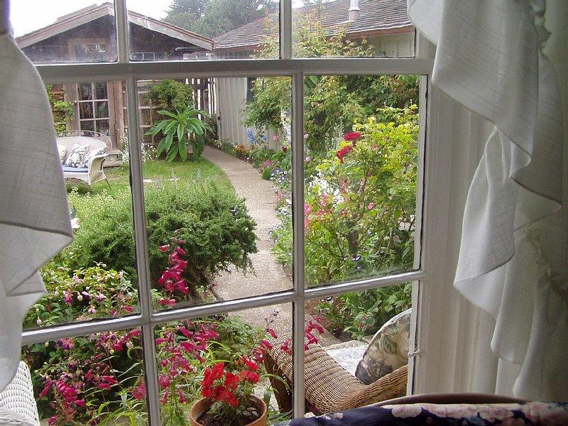 View Through Cottage Window