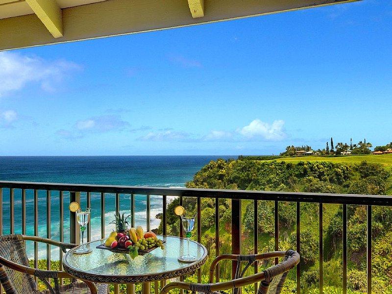 Pali Ke Kua #227: OCEANFRONT VIEWS IN PRINCEVILLE - CLOSE TO HANALEI BAY!, vacation rental in Princeville