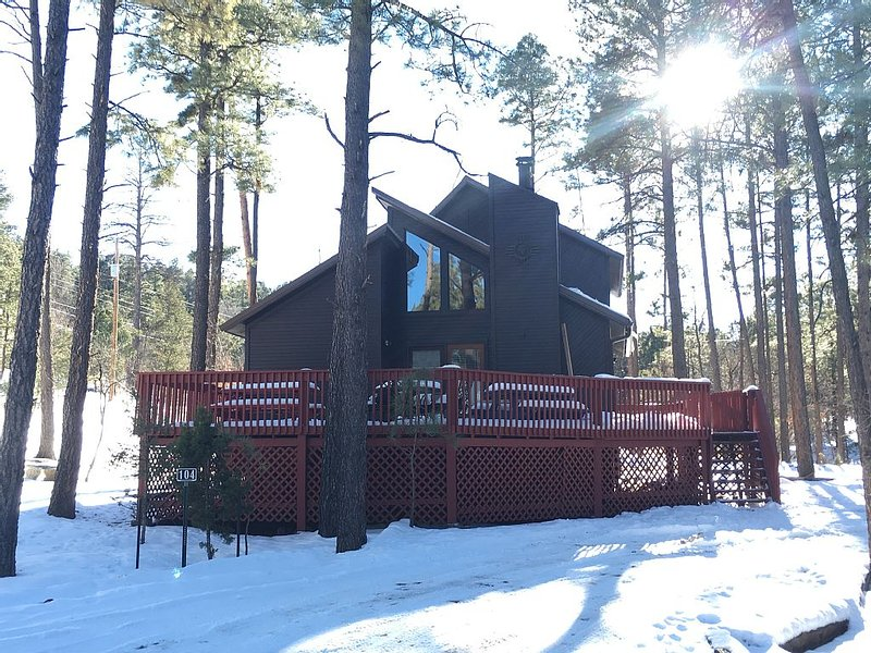 Mountain Haven - Quaint cabin retreat nestled in the woods with hot tub!, vacation rental in Alto