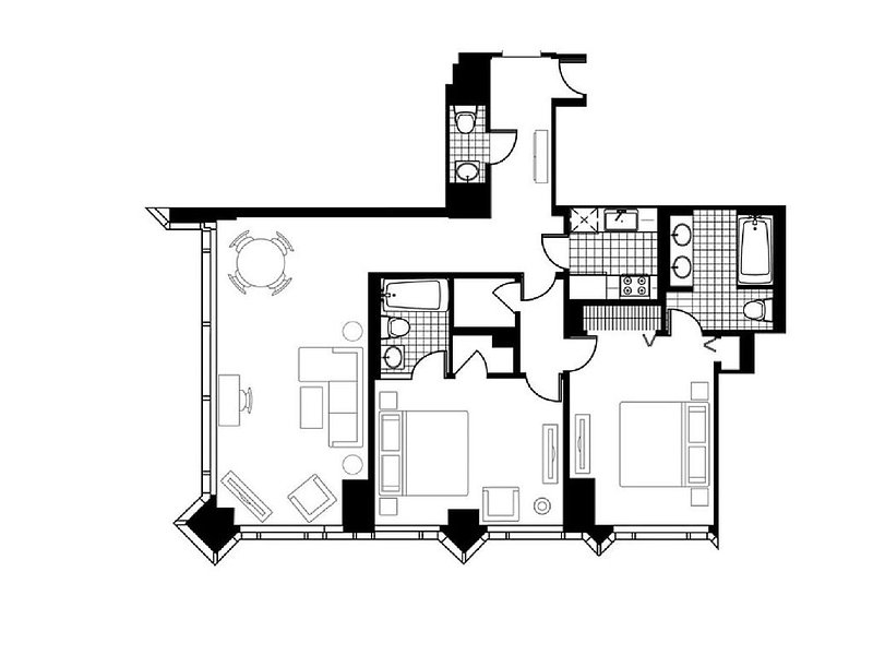The layout of the unit provides areas of retreat as well as to gather.