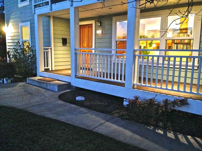 Front entrance and deck