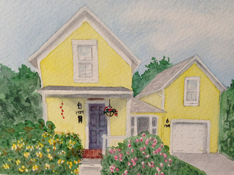 Artist rendering of 1989 Villard St. by Theresa Tonneson O'Brien
