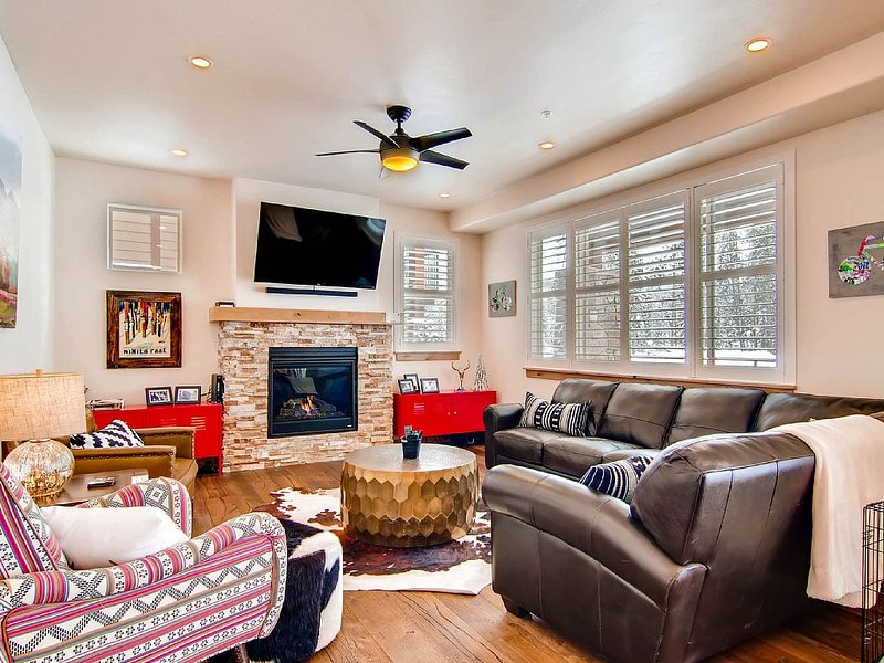 New Luxury Unit: Downtown, On Ski Shuttle, Pool/HotTub, Pets OK, Back to Forest, vacation rental in Winter Park