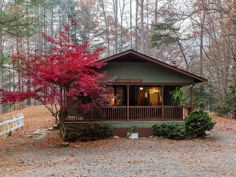 Enjoy the porch swing at our peaceful, private, family and dog friendly cabin, aluguéis de temporada em Bryson City