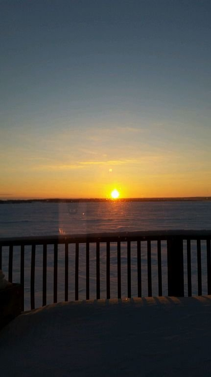 Even in the winter you can get stunning views off the deck.