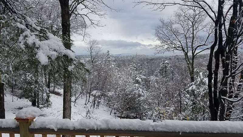 Winter Catskills view from Crystal Cottage deck