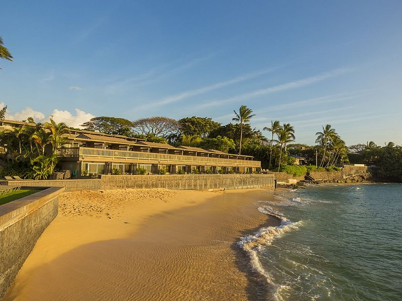 Kahana Sunset's private sandy beach - part of the protected Keone Nui Bay