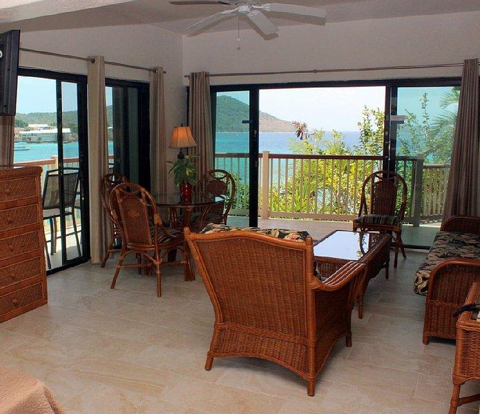 Spacious suite with wrap around views.