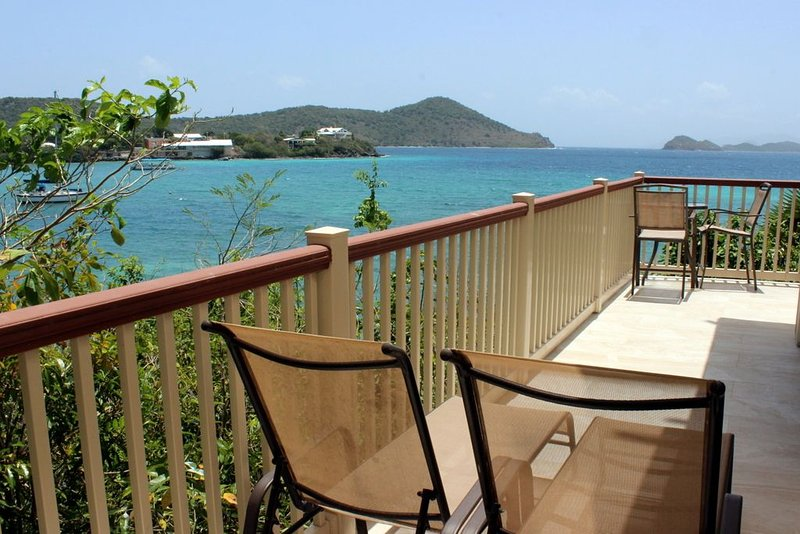 Large wrap around balcony for enjoying the views.