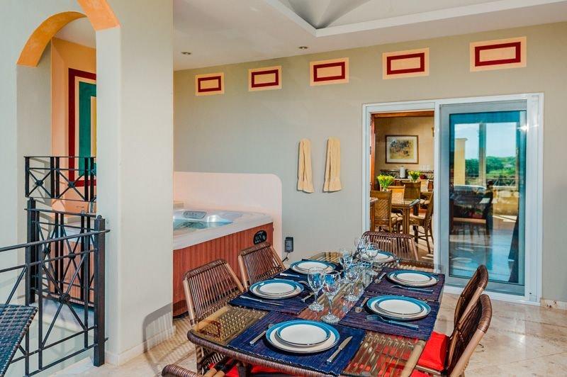 Upstairs floor terrace - Enjoy meals on the balcony