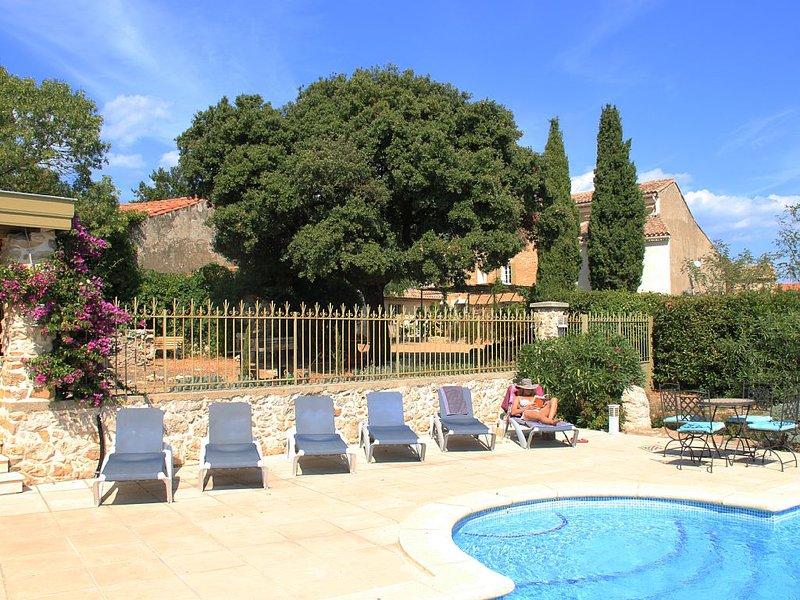 Maison de charme luxueuse. Piscine chauffée et sécurisée. 10 chambres 9 sdb, holiday rental in Villespassans