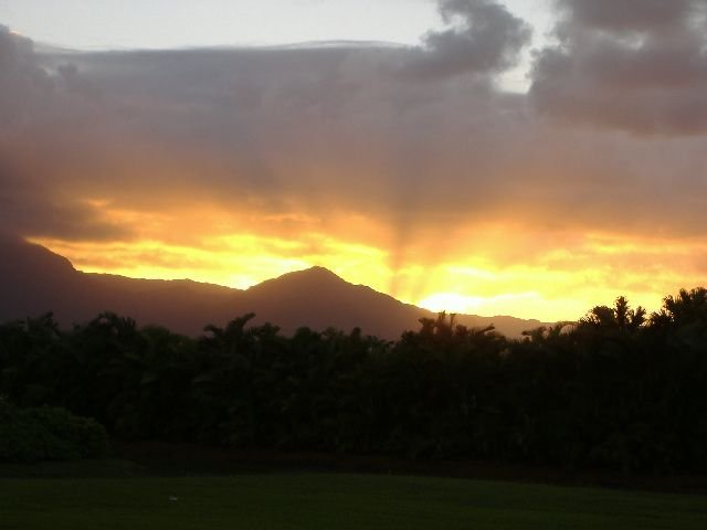 Sunset as viewed from your front Lanai