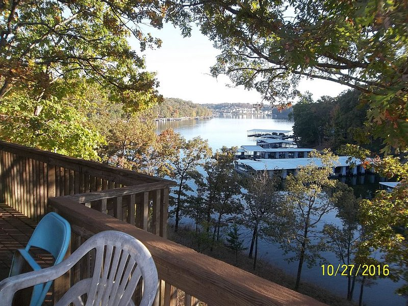 Huge lakefront home,  private boat dock on deep water cove, vacation rental in Lake Ozark