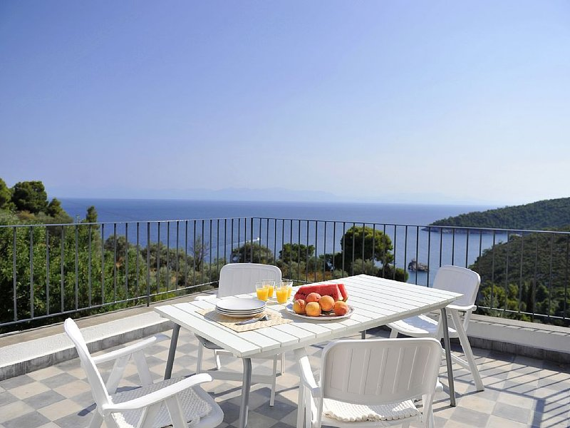 Stunning Sea Views across the Aegean, Stafilos villa.Total privacy,WIFI, holiday rental in Stafylos