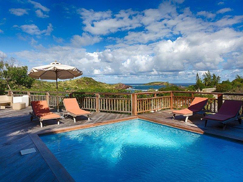 Villa Petit Lagon, belle vue mer, piscine, tarif 1 ou 2 chambres occupées, Ferienwohnung in Saint-Barthélemy