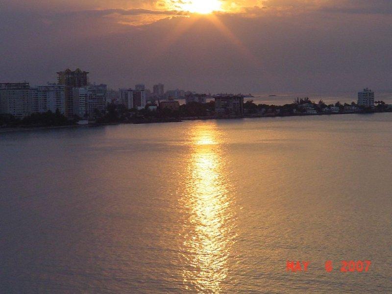 Splendiferous sunsets - view from balcony.