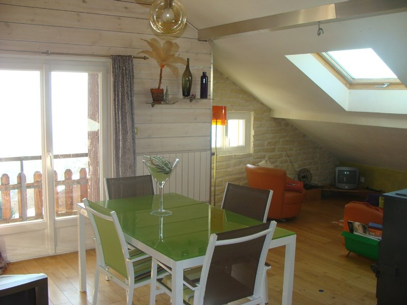 Bright comfortable apartment, overlooking Gerardmer and tracks, holiday rental in Gerardmer