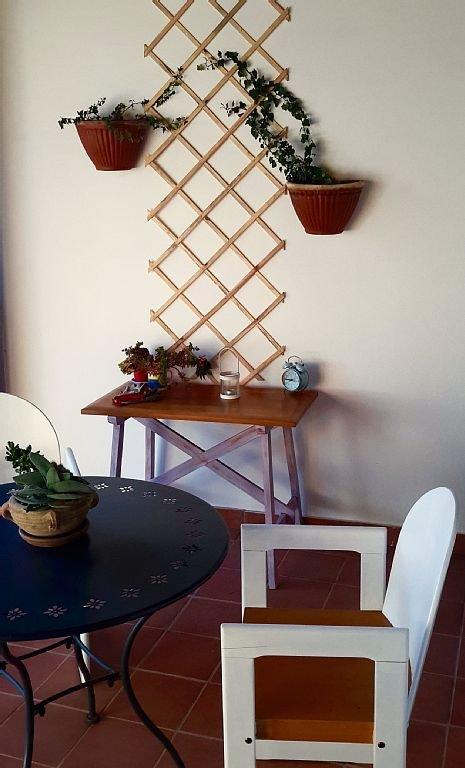 A small gardening spot in the veranda