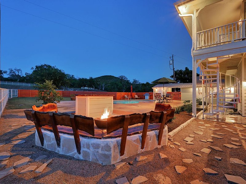 Fire Pit next to the Heated Pool