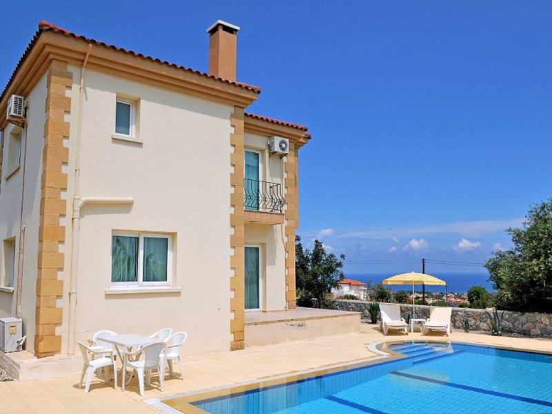 Beautiful Spacious Luxury Villa Stunning Mountain & Sea Views,Wifi, Private pool, holiday rental in Kormakitis