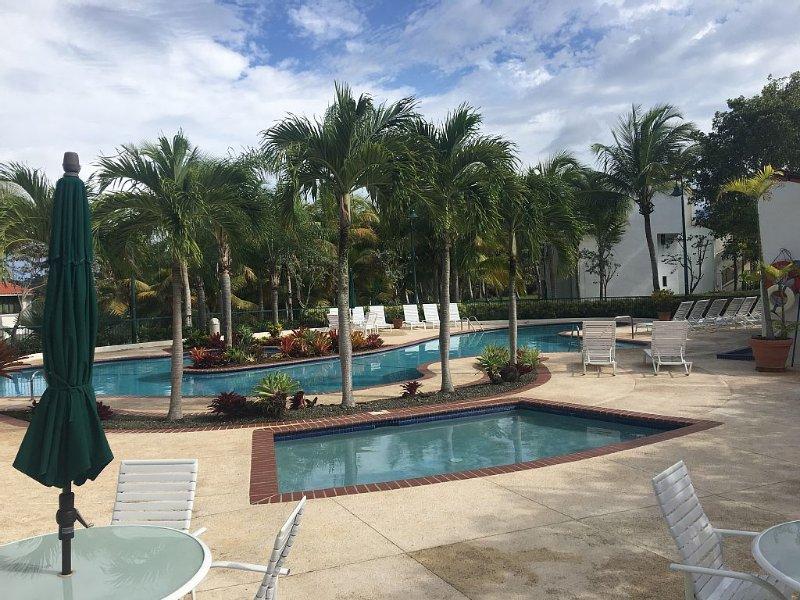 Community pool near villa.