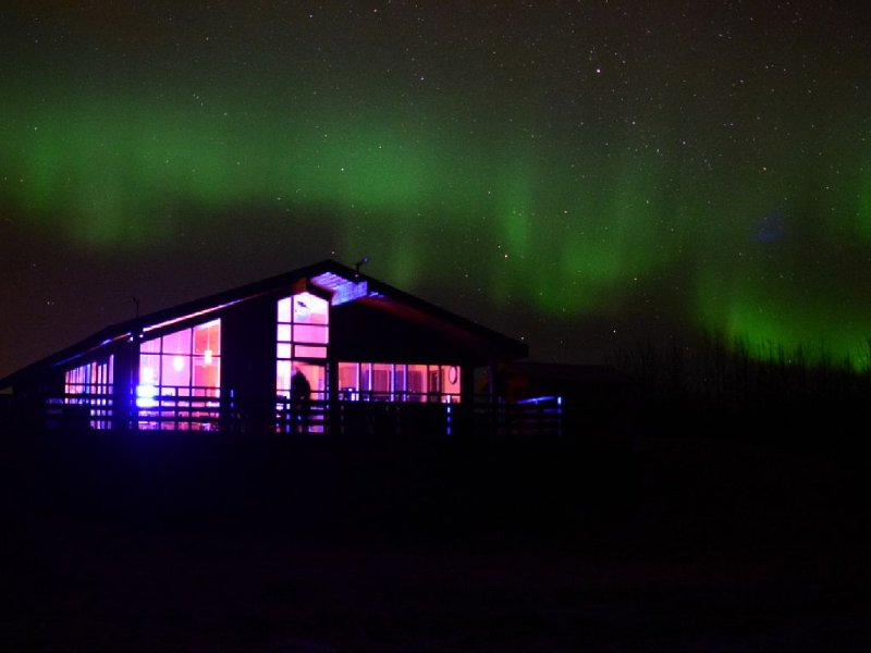 The house and northern lights