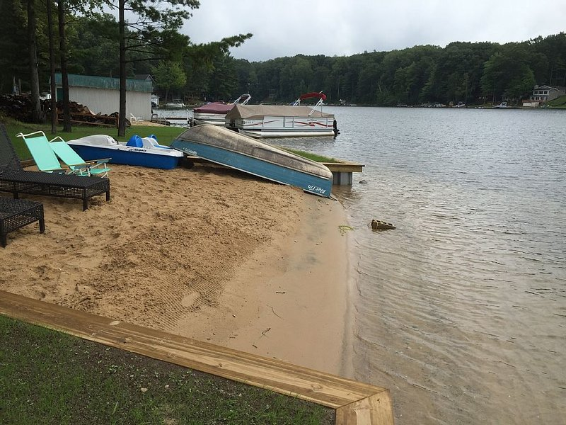 30 foot wide sandy beach in front of the house