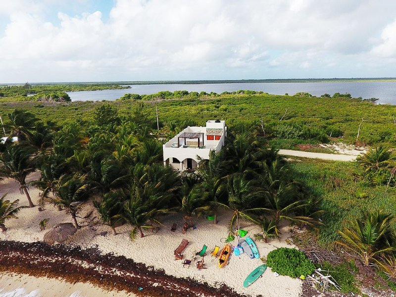 Brand New Beach Villa in Mahahual, holiday rental in Mahahual