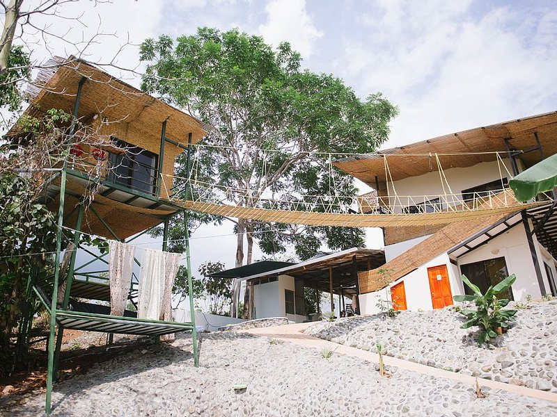 The treehouse and 2nd floor of the main house is also available for rent