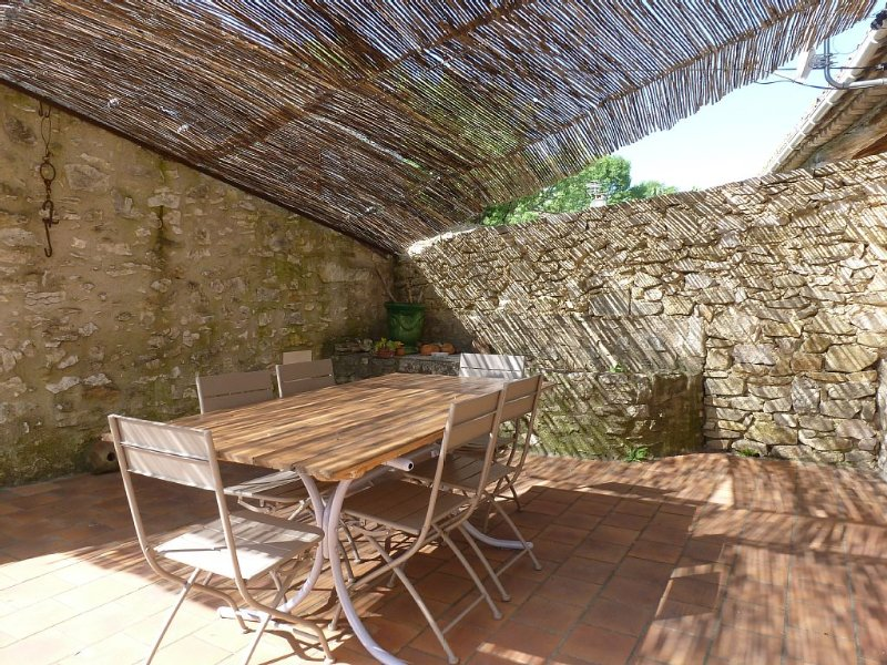Mas de village avec jardin et terrasse, calme et authentique, holiday rental in Saint-Andre-d'Olerargues
