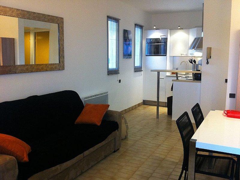 Appartement T2 sur plage, 1ere ligne mer - standing- à prox. Montpellier, alquiler vacacional en Palavas-les-Flots