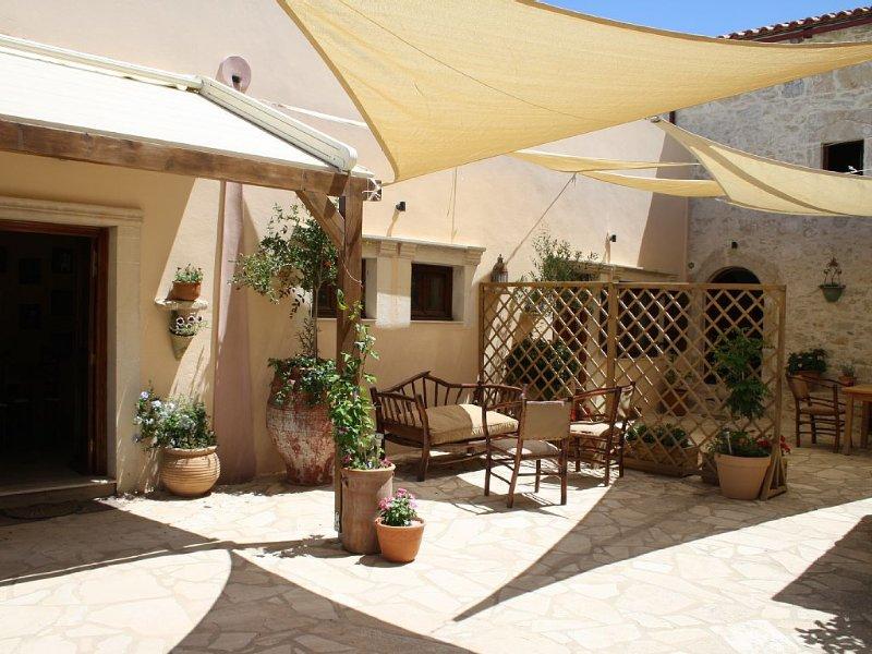 Mikon 1 courtyard area.