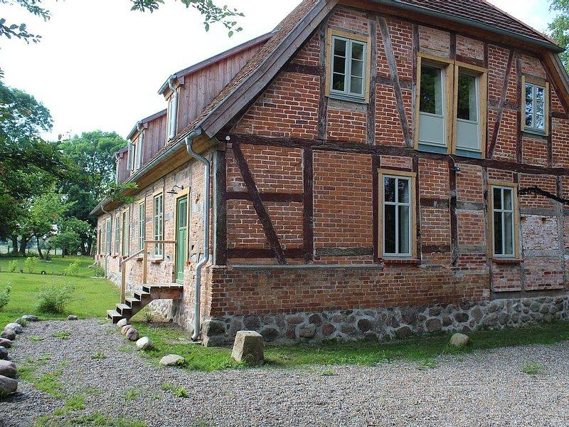 Urlaub im historischen Pfarrhaus bei Rostock abseits vom Massentourismus, holiday rental in Roggentin