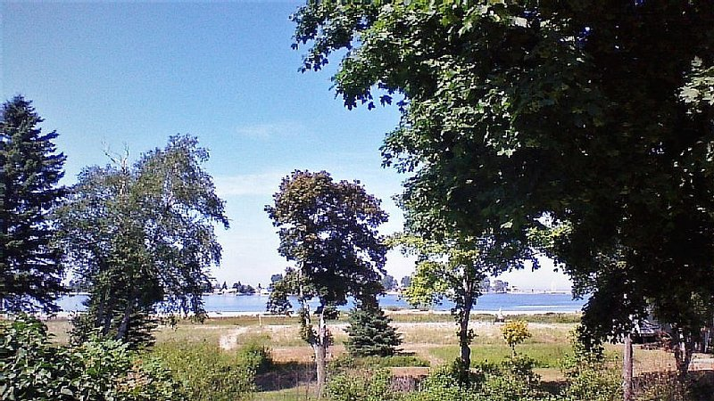 Looking across the Bay and Lake Superior!  4 Bedrooms, vacation rental in Burt Lake