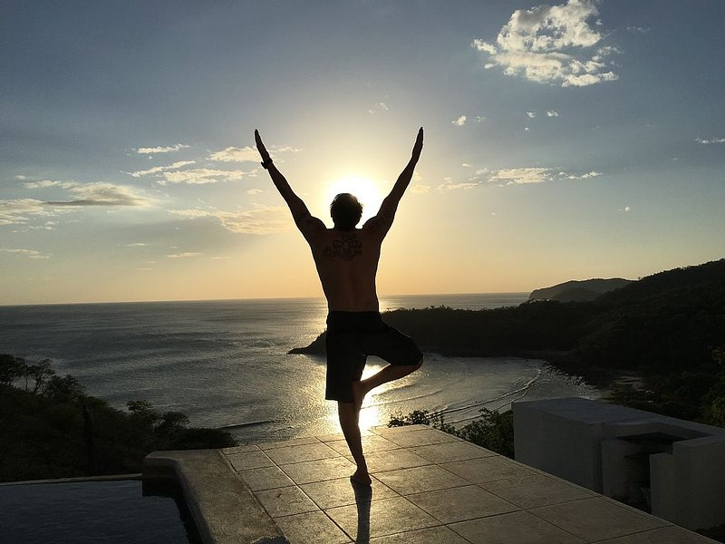 Yoga on the Pool Deck
