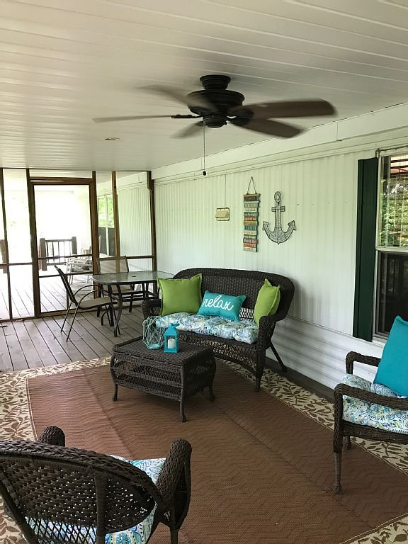 Screened in deck/porch perfect for morning coffee and a good book.