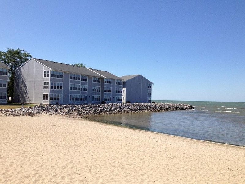 Lakefront Condo - Breathtaking View, Pool, Private Beach, Walk to Jet Express!!!, holiday rental in Port Clinton
