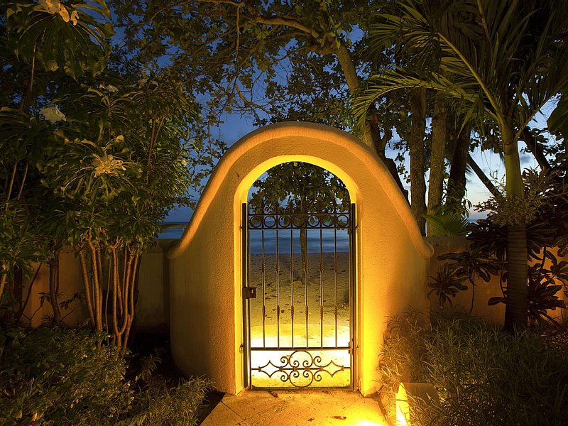 After crossing the gardens, you are steps away from the ocean.