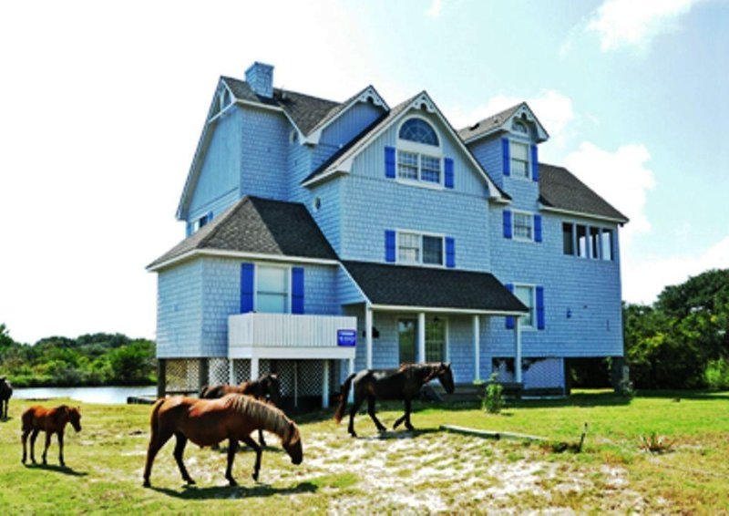 Available Canalfront Wild Horses, Kayaks Incredible Views, alquiler de vacaciones en Corolla