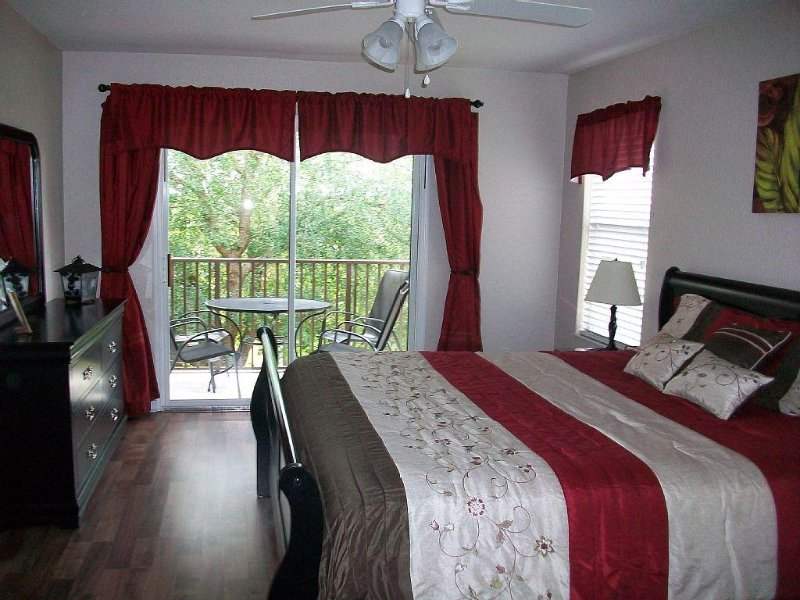 2nd Floor Master Suite with private balcony