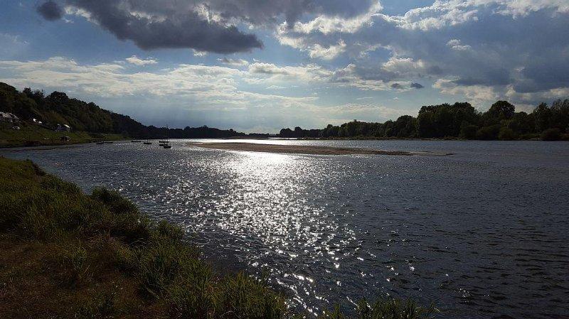 La Loire et ses bancs de sable, à 10kms