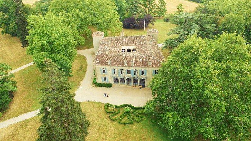 Château de La Rode vue parc