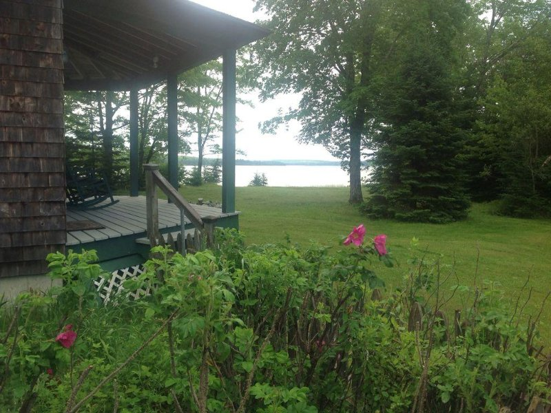Relax on twenty acres, 75' from the water.